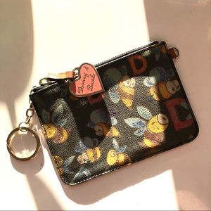 Dooney & Bourke bumblebee wristlet key holder